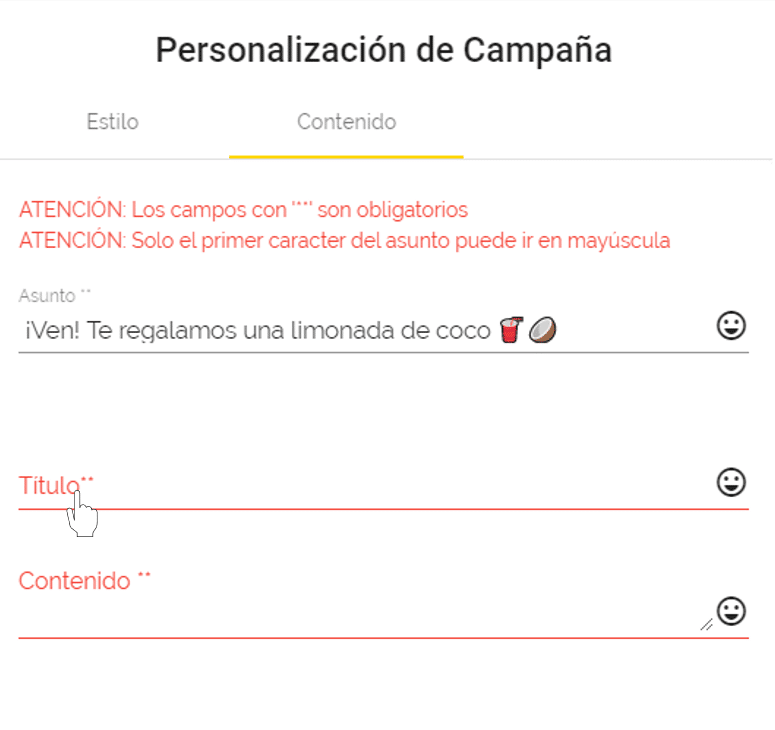 contenido email leal