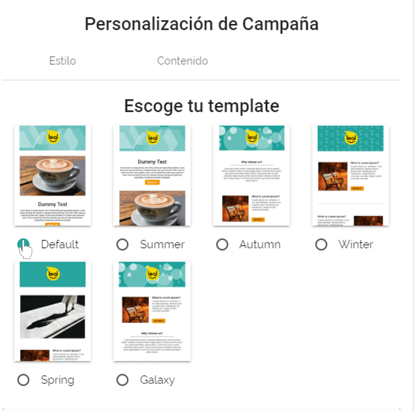 templete disponible email marketing leal